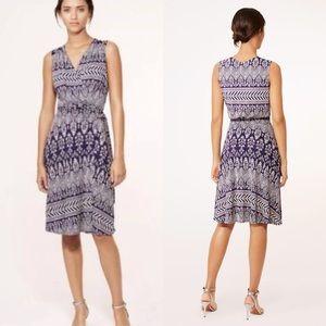 Tory Burch Rochelle Silk Blend Dress In Purple
